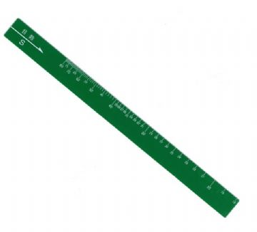 knitting gauge/green ruler: part no. 08252116